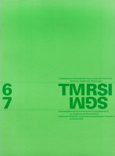 Cover from 1963 issue 6/7