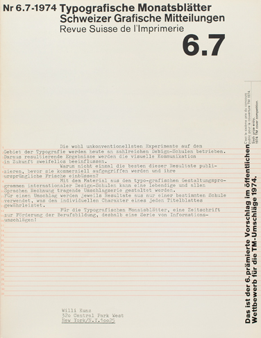 Cover from 1974 issue 6/7